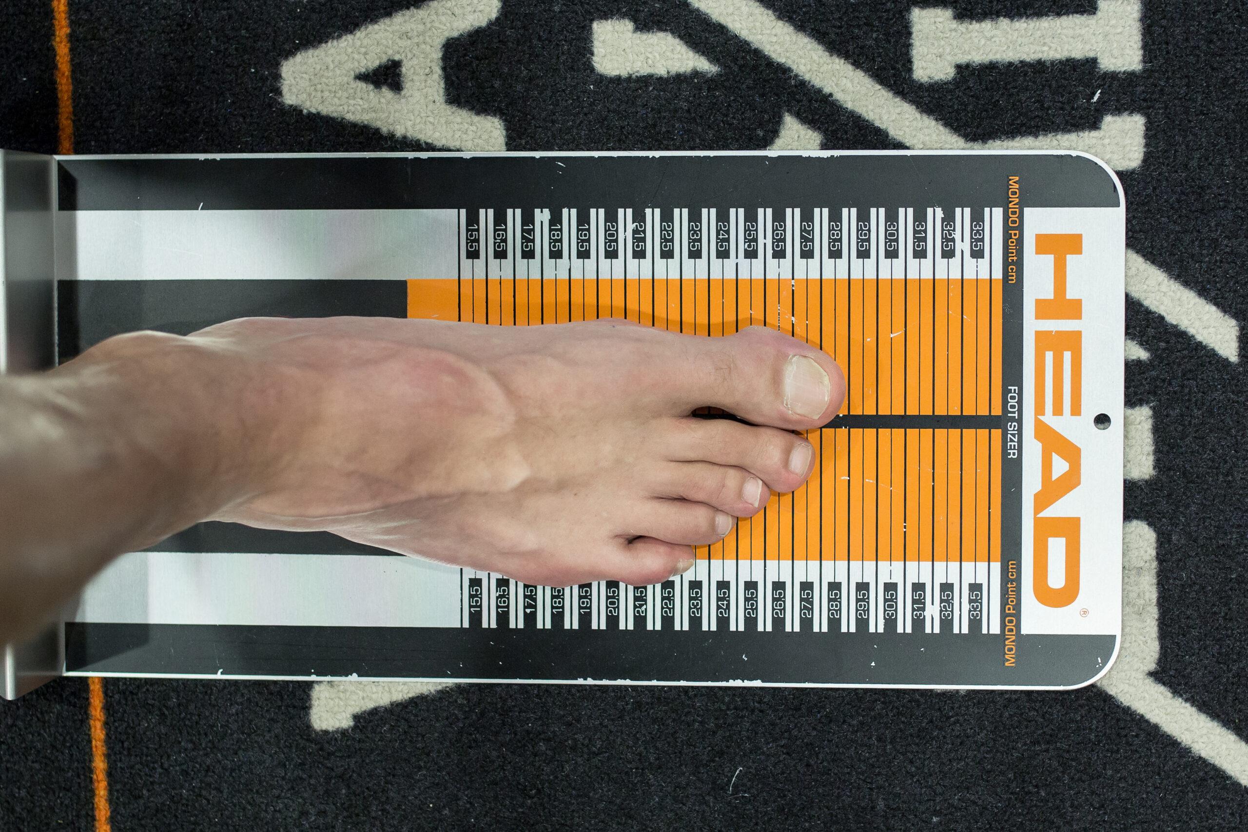 stopa na miarce